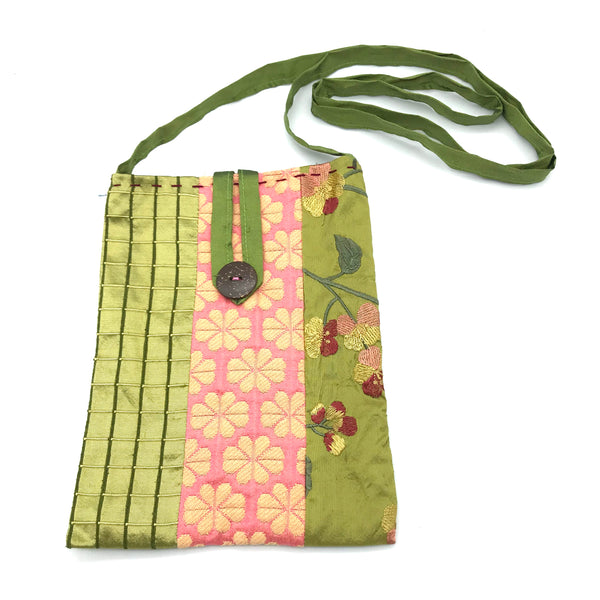 Miss Belle's Caravan Bag with Olive Green and Coral Colouring - Side Street Studio