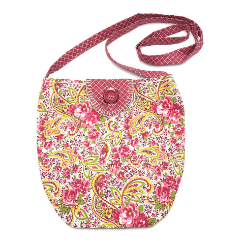 Miss Belle's Caravan Bag Pink Flowers and Paisley's - Side Street Studio