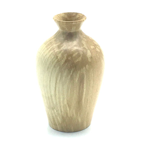 Mini Arbutus Wood Vase 3 1/4 inches - Side Street Studio