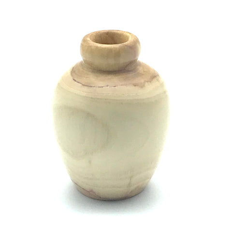 Mini Plum Tree Wood Vase 2 inches - Side Street Studio