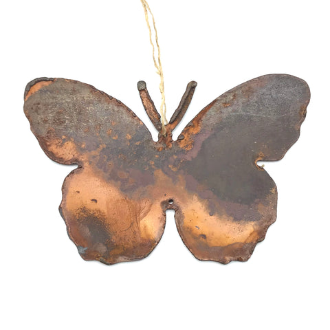 Rusted Steel hanging Butterfly, 4 x 3 inches