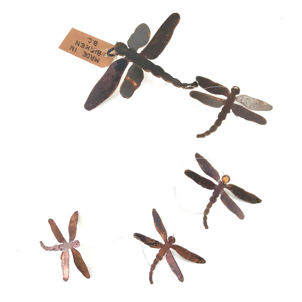 Rusted Steel Dragonfly Wind Kite