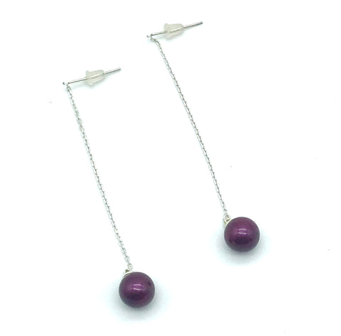 Swarovski Blackberry Pearl Earrings - Side Street Studio