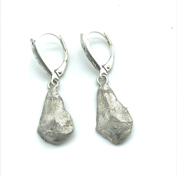 Sterling Silver Earrings design cast from Ponderosa Pine Cone