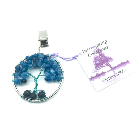 Tree of Life Car Fresheners with Blue Quartz