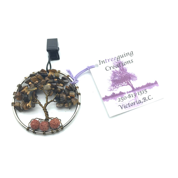 Tree of Life Car Fresheners with Amethyst and Crystals