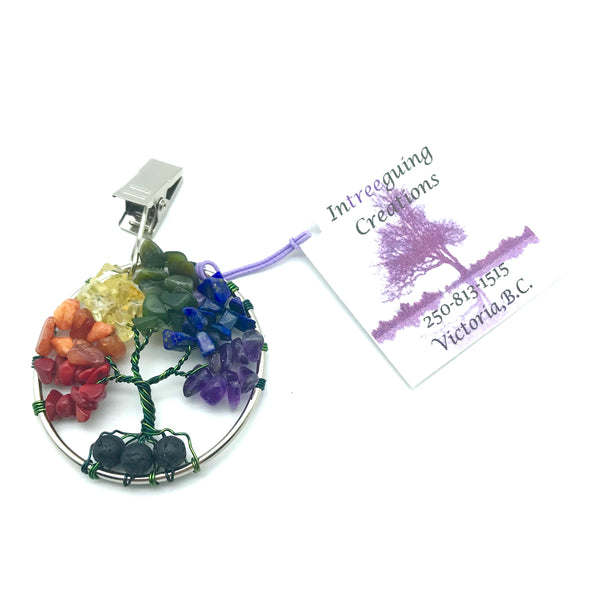 Tree of Life Car Fresheners with Green Wire and Rainbow