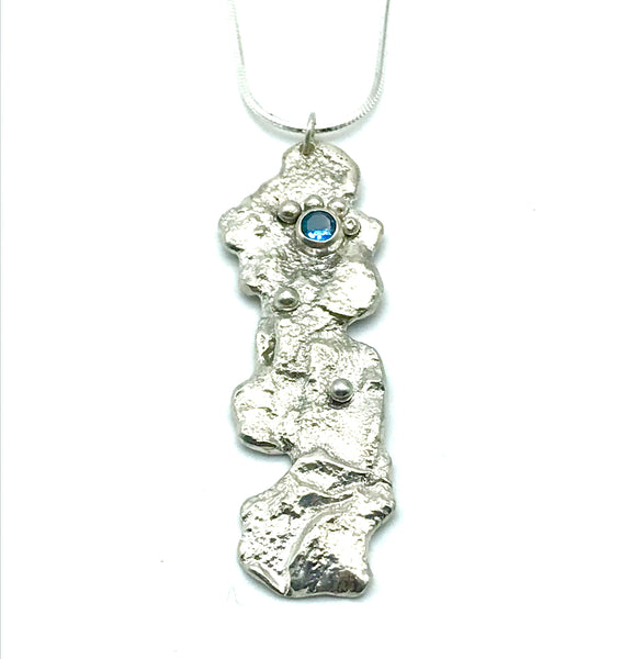 Sterling Silver Reticulated Pendant Necklace - Side Street Studio