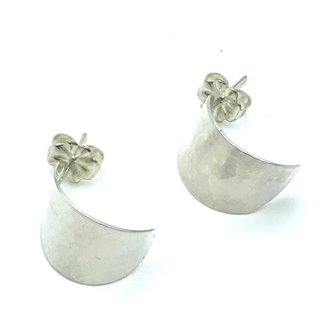 Sterling Silver Hammered Stud Earrings - Side Street Studio