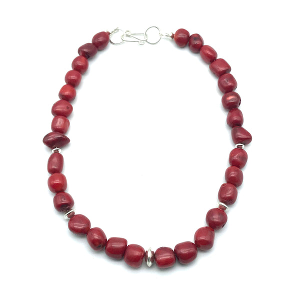 Sterling Silver Red Sea Bamboo Necklace - Side Street Studio