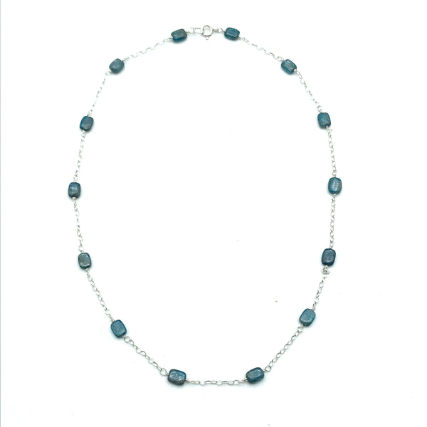 Sterling Silver Kyanite Chain Necklace - Side Street Studio