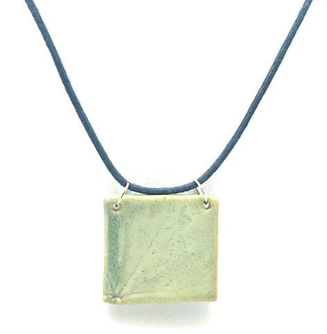 Seafoam Green Square Ceramic Pendants