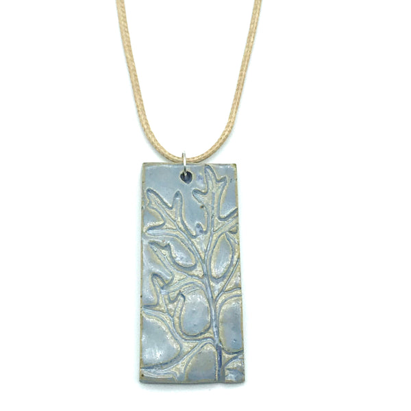 Light Blue Rectangle Ceramic Pendants