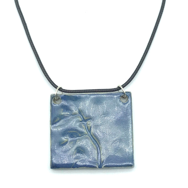 Blue Rectangle Ceramic Pendants