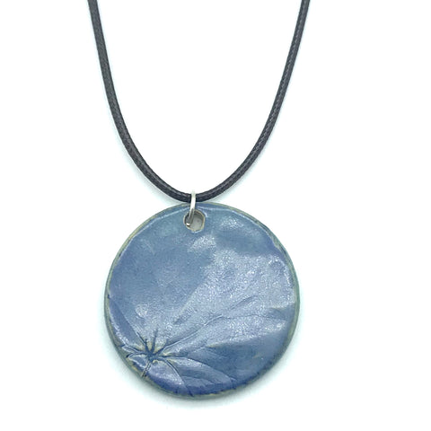 Blue Round Ceramic Pendants