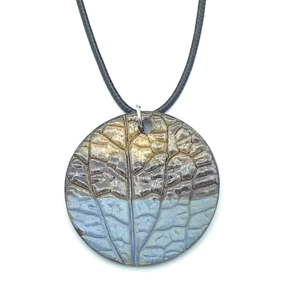 Blue and Brown Round Ceramic Pendants