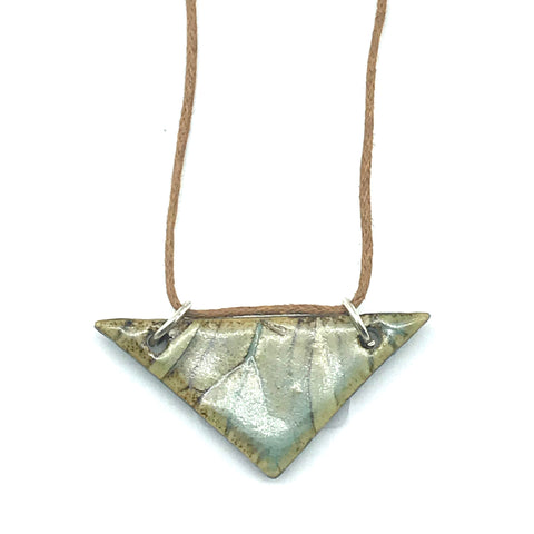 Earth Tones Triangle Ceramic Pendants