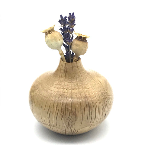 Mini Rhododendron (B.C.) Wood Vase 2 1/2 inches