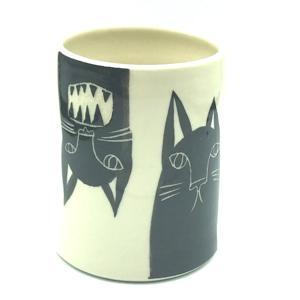 Fun Black Cat Wine Cup
