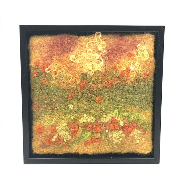 Framed Felted Art, Autumn Magic