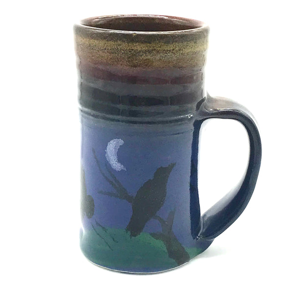Large Mug with Raven/Crow Design