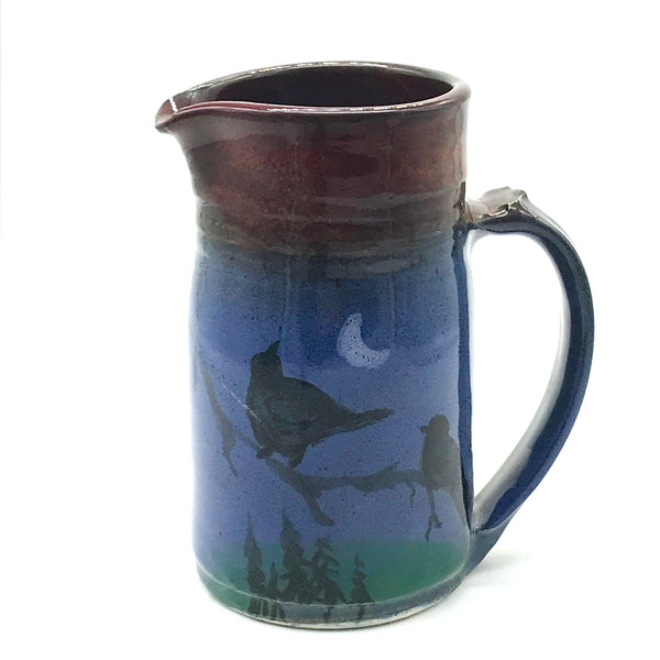 Pitcher with Crow Design