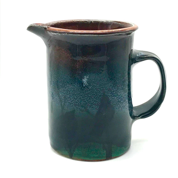 Coffee Press Pitcher with Crow and Moon Design