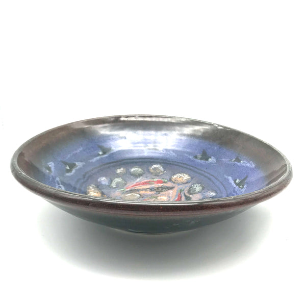 Medium Bowl with Orca and Salmon Design