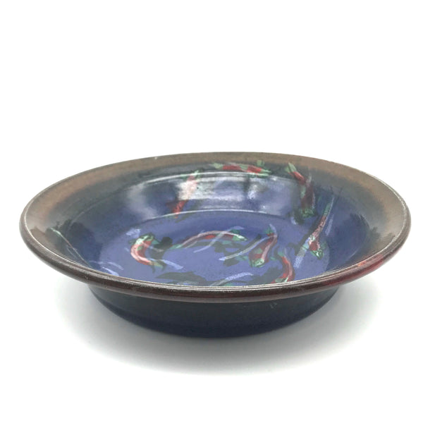 Pie Dish with Salmon Design
