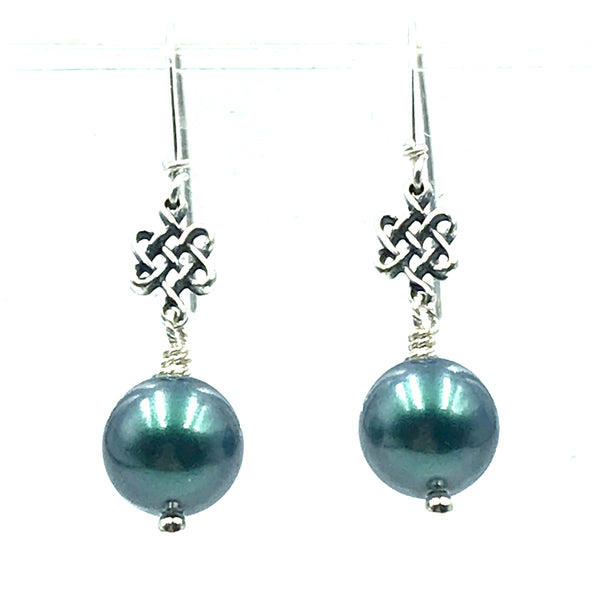 Tuxedo Collection, Black Pearl Earrings