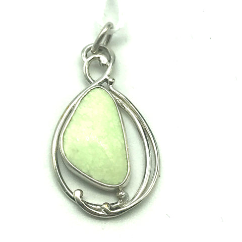 Sterling Silver with Lemon Chrysoprase Pendant