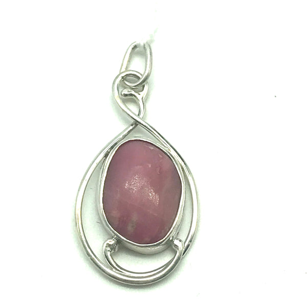 Sterling Silver with Vancouver Island Rhodonite Pendant
