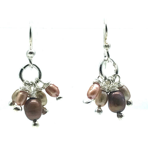Sparkly Freshwater Pearls Drop Earrings