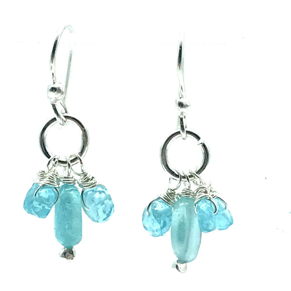 Sparkly Apatite Drop Earrings