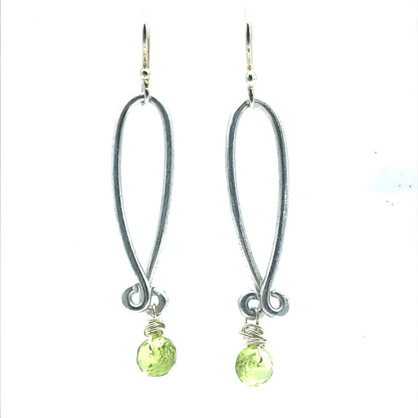 Aluminium Lilidrop Peridot Drop Earrings