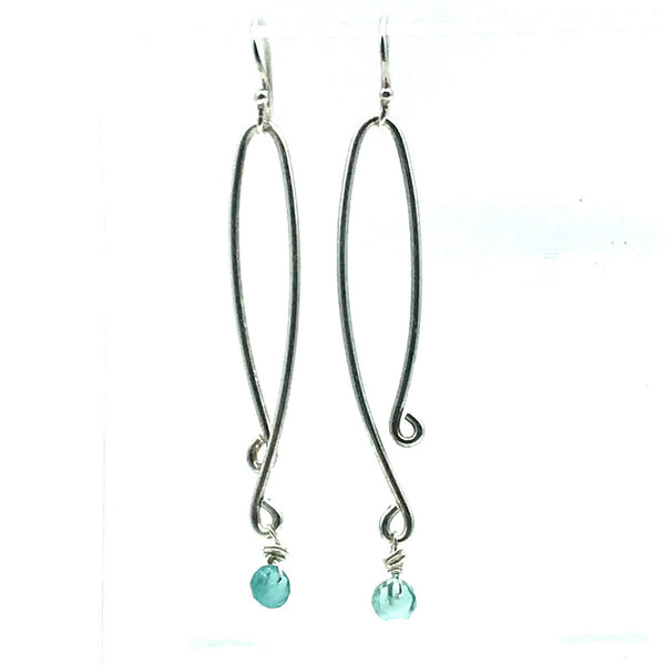Aluminium Lilidrop Fluorite Drop Earrings