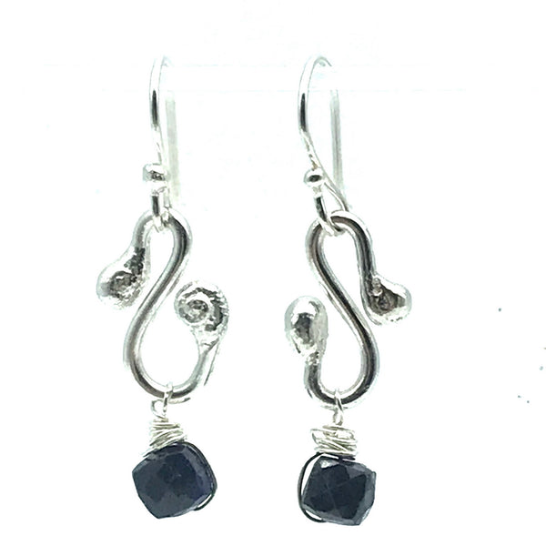 Gypsy Earrings with Sapphire