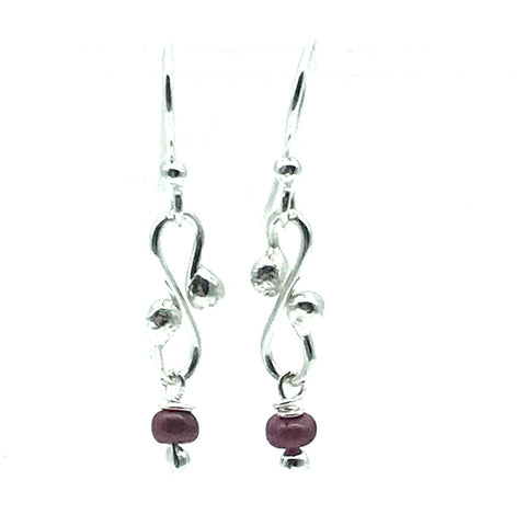 Gypsy Earrings with Ruby