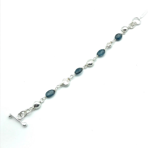 Gypsy Bracelet with London Blue Topaz