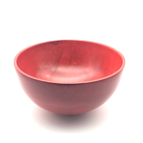 Silver Maple Red Wooden Bowl