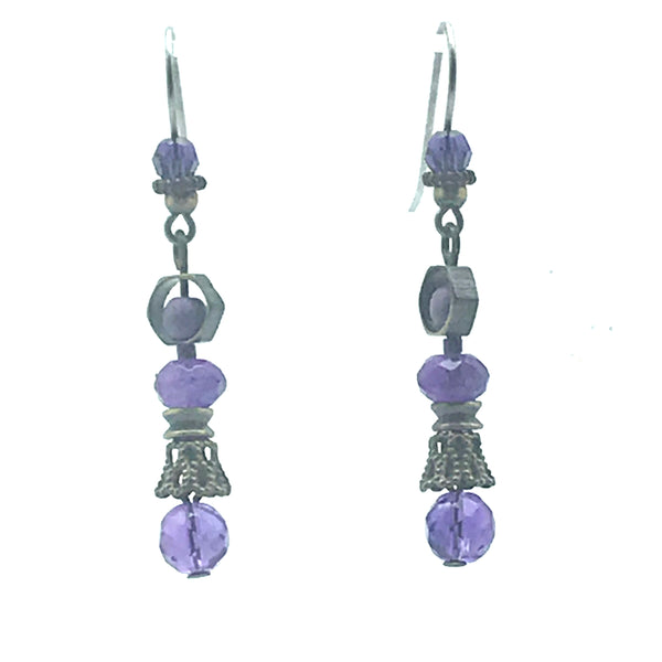 Passion for Purple Earrings, 2 inches