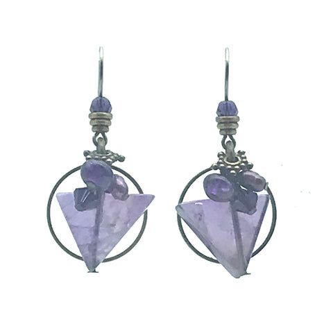 Passion for Purple Earrings, 1 1/4 inches
