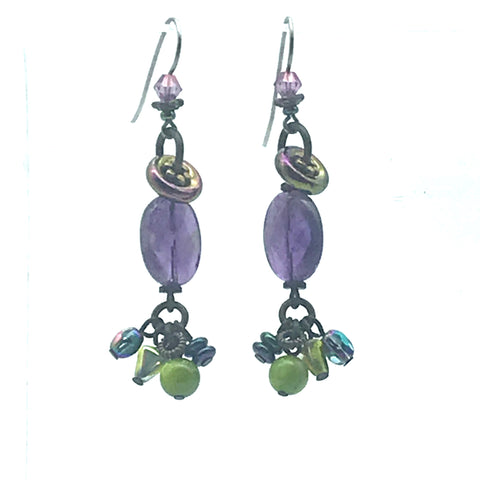 Mystic Earrings, 2 1/4 inches