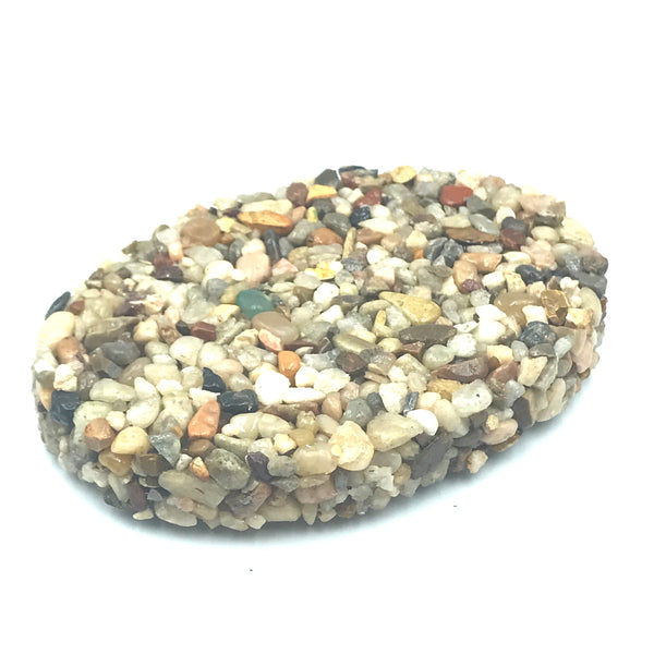 OVAL NATURAL COLOURED STONE SOAP DISH
