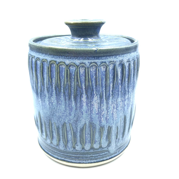 Powell River Blue Glazed Sugar Pot