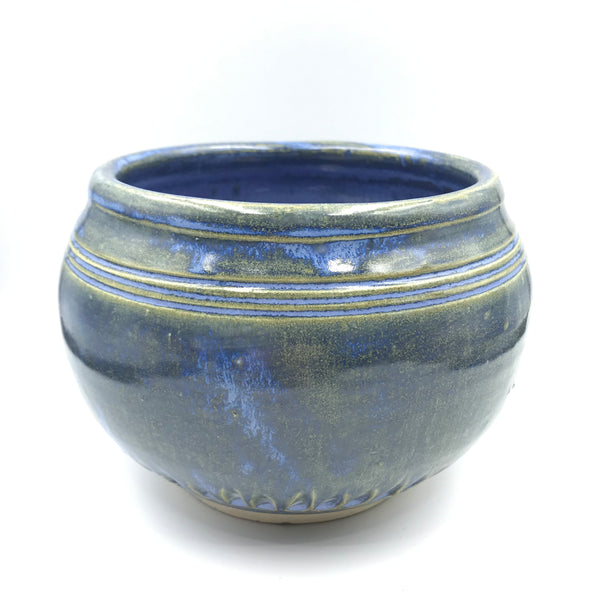 Powell River Blue Glazed Mixing Bowl