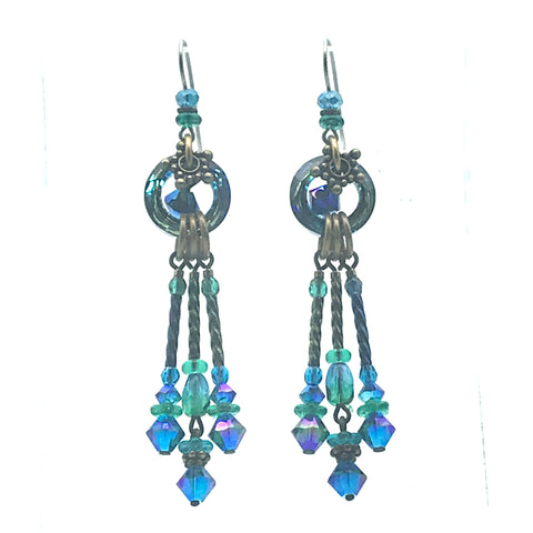 Atlantis Earrings, 3 inches