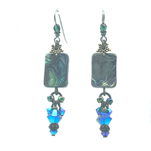 Atlantis Earrings, 1 2/3 inches