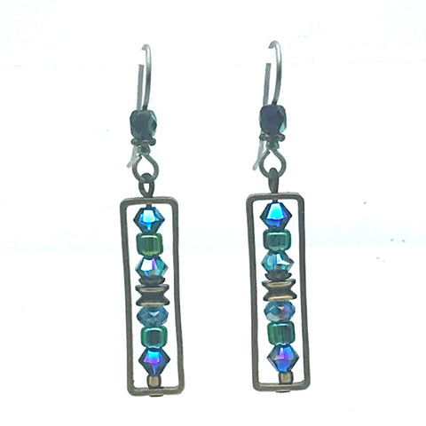 Atlantis Earrings, 1 3/4 inches