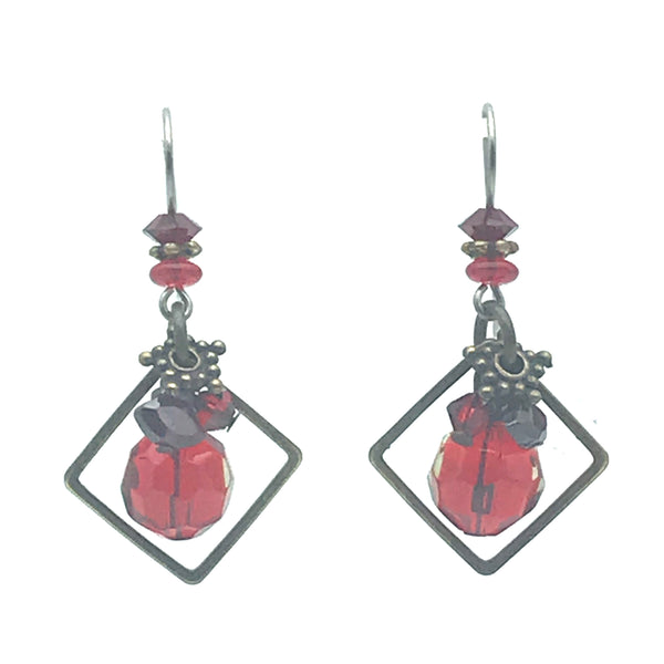 Danger Zone Earrings, 1 1/2 inches